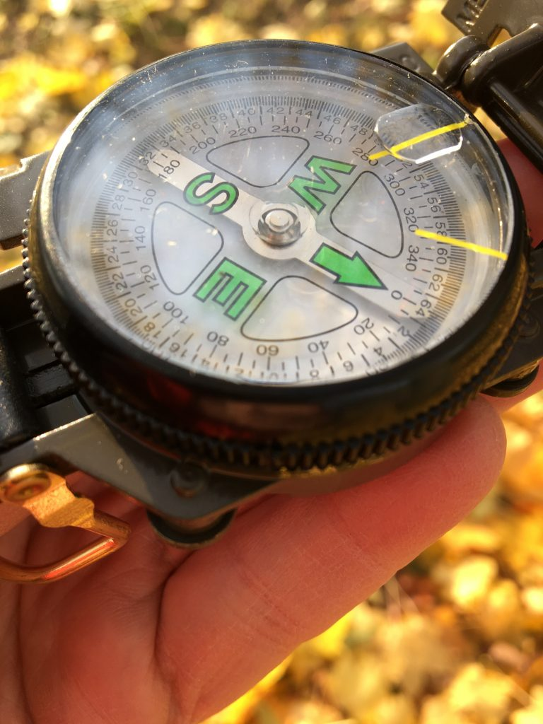 Auch ein Kompass ist wichtig bei der Schnitzeljagd in Mainz