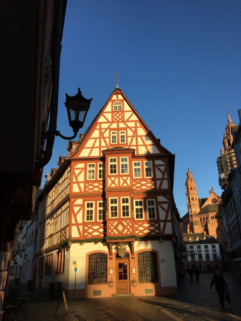 Sightseeing während der Schnitzeljagd in Mainz