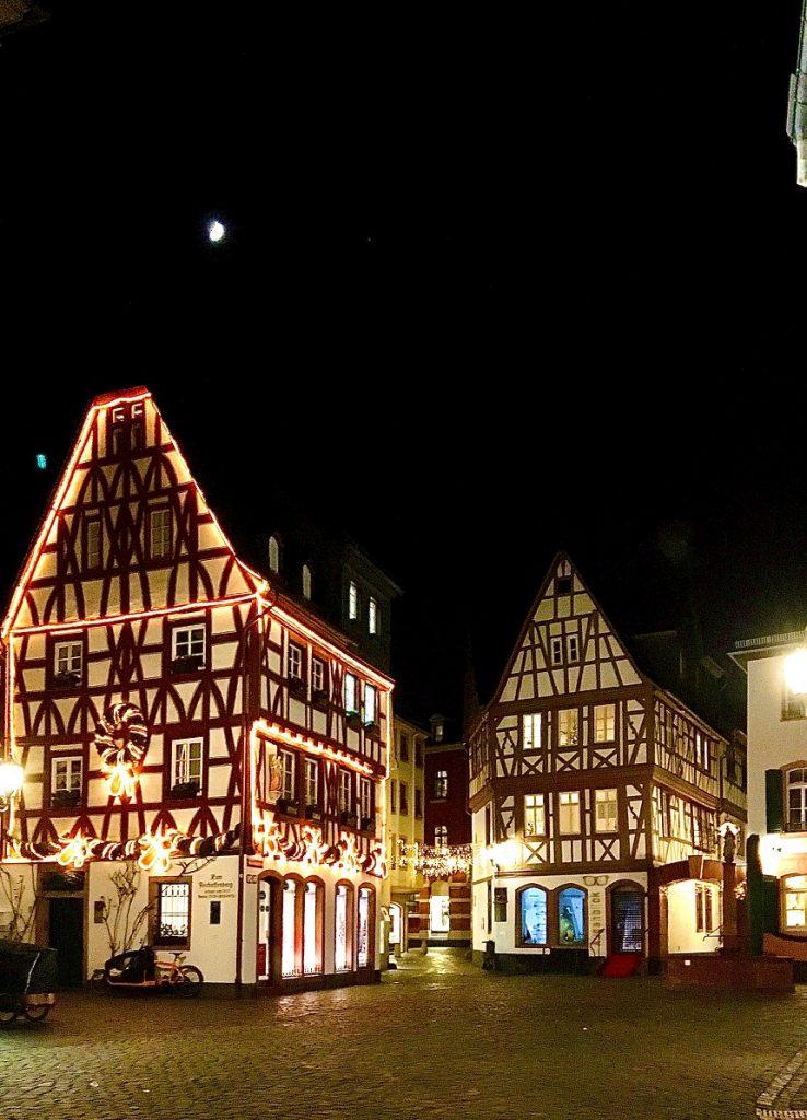 Mainz bei Nacht während der Schnitzeljagd Mainz
